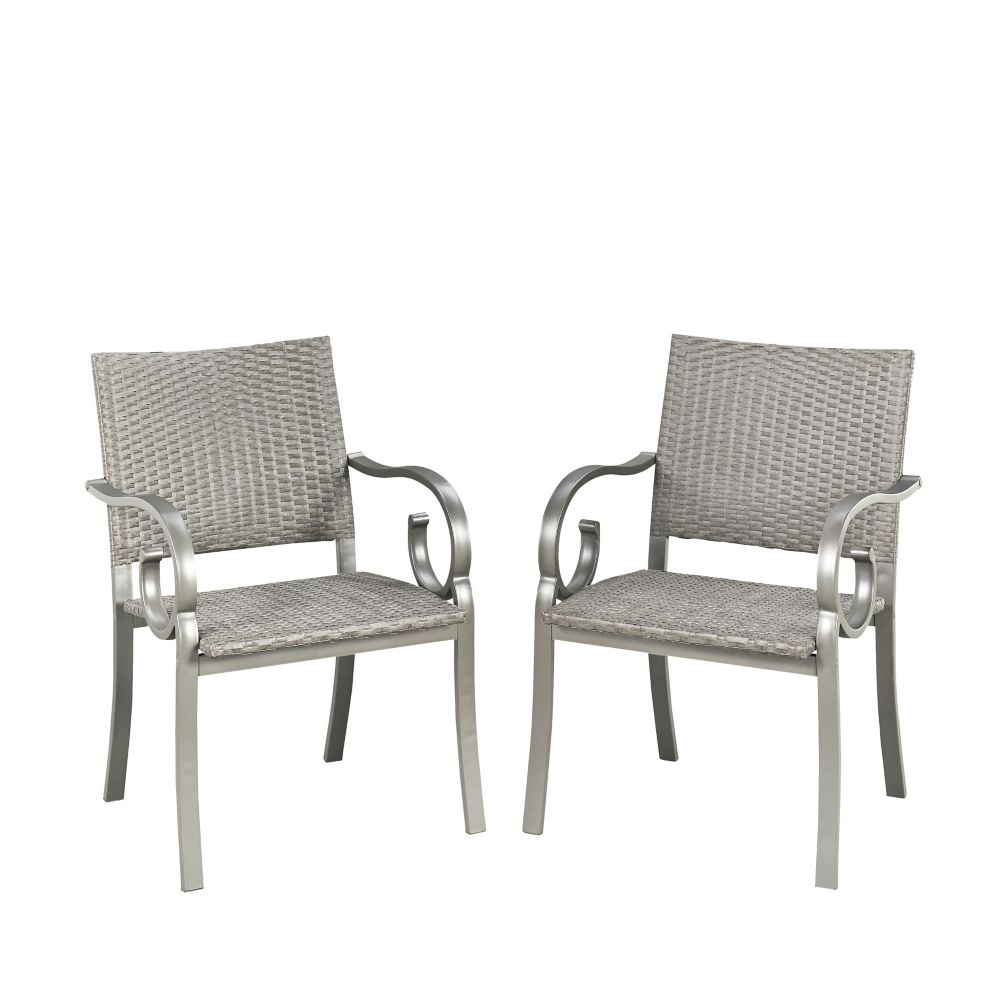 Homestyles Capri Patio Arm Chairs (Set of 2)