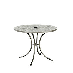 Homestyles Umbria Concrete Tile Round Outdoor Table