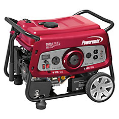 Dual Fuel 3500 Watt Portable Generator with Electric Start