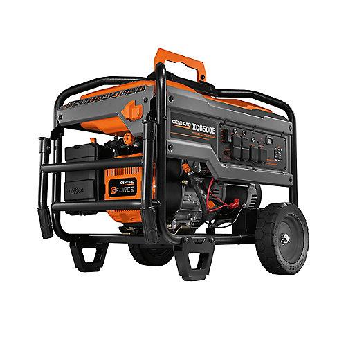 Générateur portable alimenté à essence avec démarrage électrique XC, 6 500 Watts