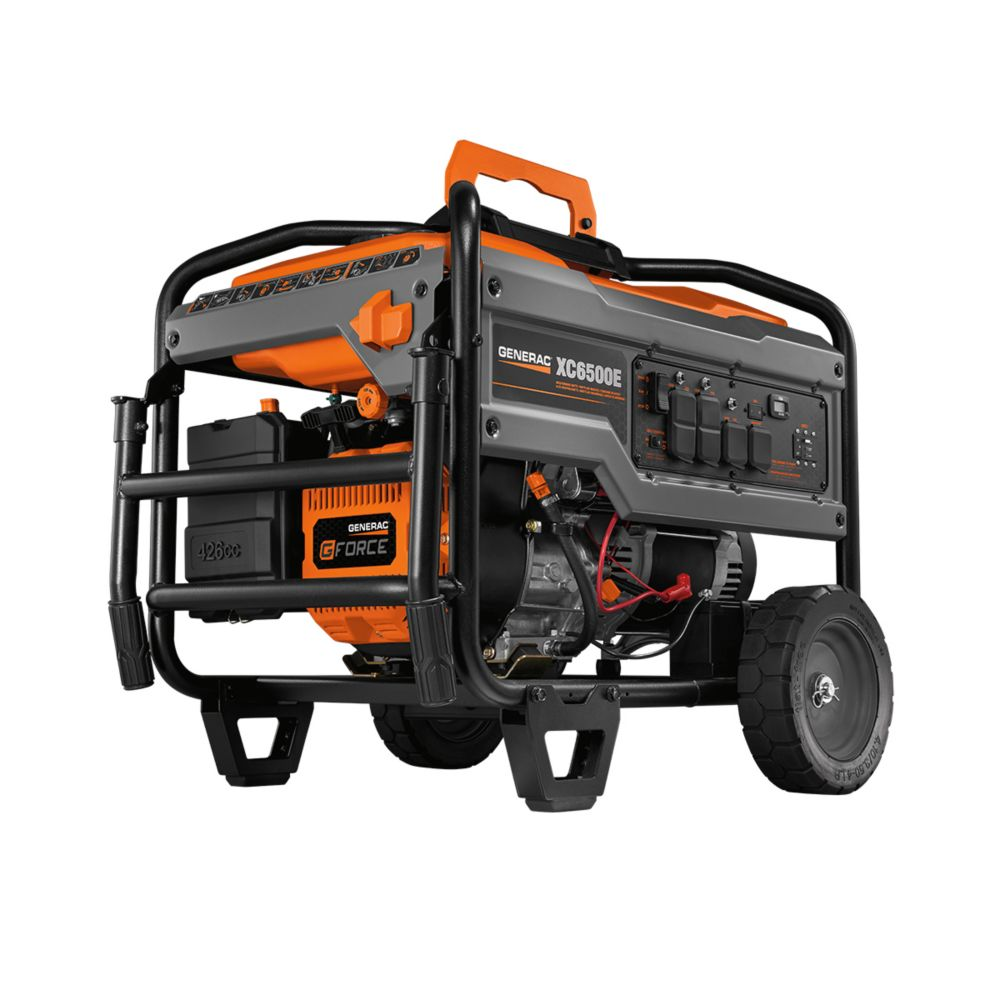 Generac XC 6500W Electric Start Gasoline Powered Portable Generator