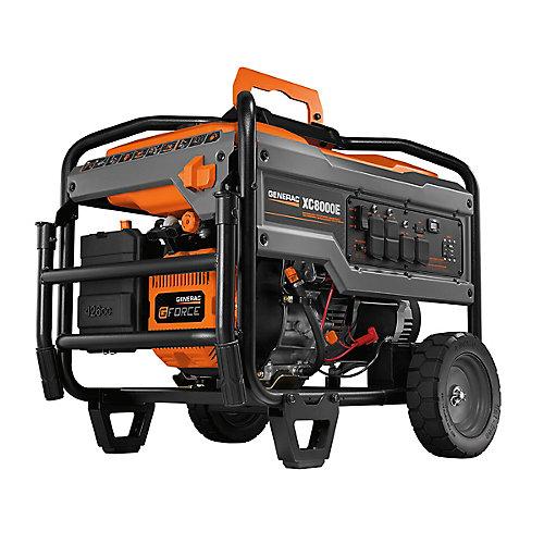 Générateur portatif à essence à démarrage électrique XC 8000W