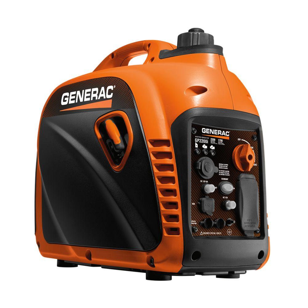 Generac 1600W Portable Gasoline Powered Invertor Generator