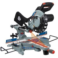 King Canada 10 Inch Sliding Compound Miter Saw with Dual Laser