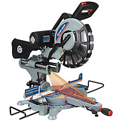 King Canada 12-inch Sliding Dual Compound Miter Saw with Twin Laser Guide