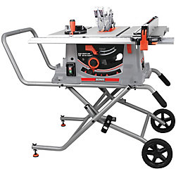 King Industrial 10-inch Jobsite Saw with Folding Stand