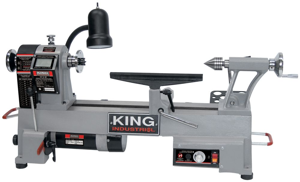 King Industrial 12 Inch X 18 Inch Variable Speed Wood Lathe The
