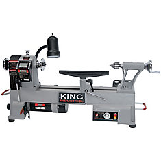 12-inch x 18-inch Variable Speed Wood Lathe