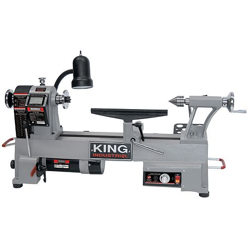 King Industrial 12-inch x 18-inch Variable Speed Wood Lathe
