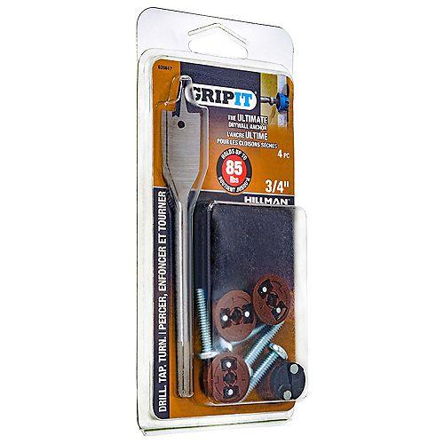 Grip It Ancre pour cloison sèche Hold Grip-It de 85 lb en brun - 4 pièces