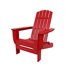 Hampton Bay Foldable Adirondack Chair Red Finish
