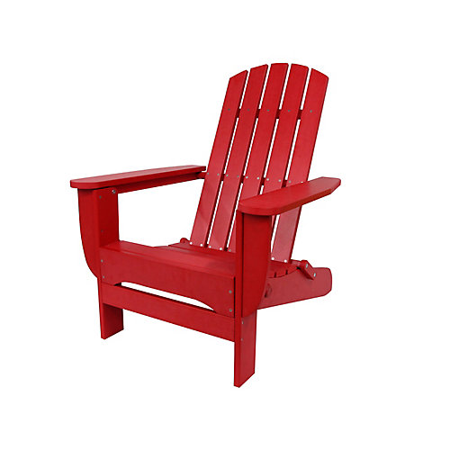 Foldable Adirondack Chair Red Finish