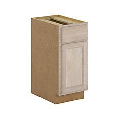 Stratford - Caisson de bas avec tiroir fermeture en douceur 15x34.5x24 po. assemblé en chêne naturel