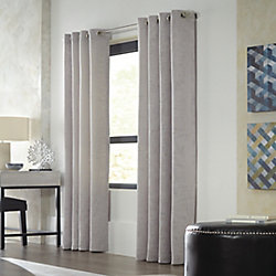 HDC Avignon Light Filtering Grommet Curtain 52 inches width X 84 inches length, Grey
