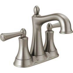 Delta Rila 2-Handle Centerset Lavatory Faucet in Brushed Nickel