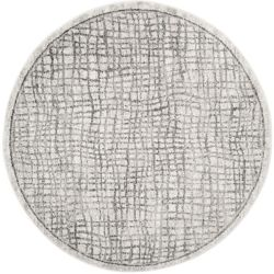 Safavieh Adirondack Taylor Silver / Ivory 4 ft. x 4 ft. Indoor Round Area Rug