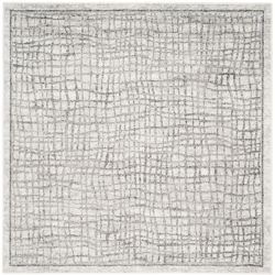 Safavieh Adirondack Taylor Silver / Ivory 4 ft. x 4 ft. Indoor Square Area Rug
