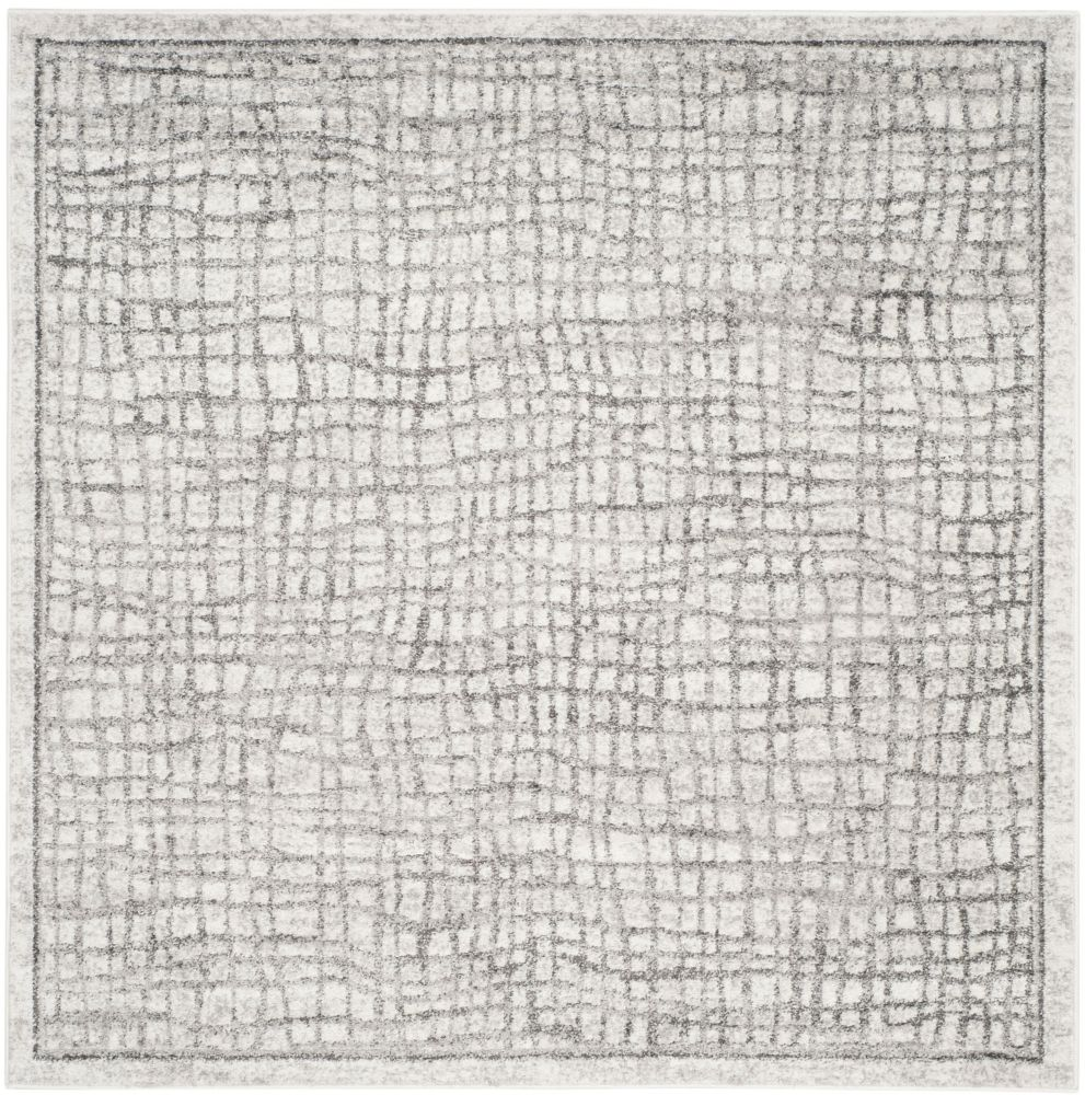 Safavieh Adirondack Taylor Silver / Ivory 6 ft. x 6 ft. Indoor Square Area Rug
