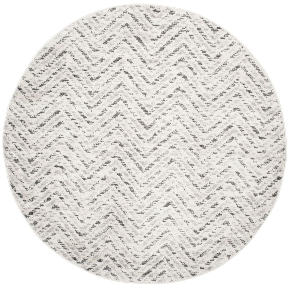 Safavieh Adirondack Kevin Ivory / Charcoal 4 ft. x 4 ft. Indoor Round Area Rug