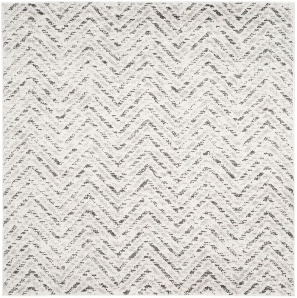Safavieh Adirondack Kevin Ivory / Charcoal 4 ft. x 4 ft. Indoor Square Area Rug