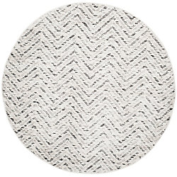 Safavieh Adirondack Kevin Ivory / Charcoal 6 ft. x 6 ft. Indoor Round Area Rug