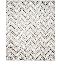 Carpette d'intérieur, 9 pi x 10 pi, style contemporain, rectangulaire, blanc cassé Adirondack