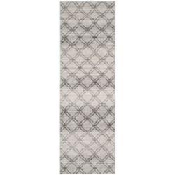 Safavieh Tapis de passage d'intérieur, 2 pi 6 po x 12 pi, style contemporain, argent Adirondack