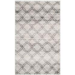 Safavieh Carpette d'intérieur, 3 pi x 5 pi, style contemporain, rectangulaire, argent Adirondack