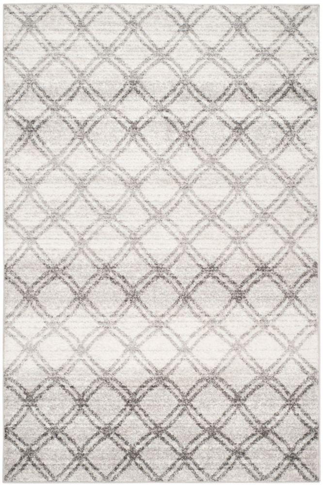 Safavieh Adirondack Aaron Silver / Charcoal 5 ft. 1 inch x 7 ft. 6 inch Indoor Area Rug