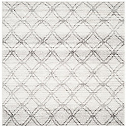Safavieh Adirondack Aaron Silver / Charcoal 6 ft. x 6 ft. Indoor Square Area Rug