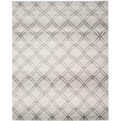 Safavieh Carpette d'intérieur, 9 pi x 10 pi, style contemporain, rectangulaire, argent Adirondack