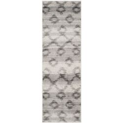 Safavieh Adirondack Isabel Silver / Charcoal 2 ft. 6 inch x 8 ft. Indoor Runner