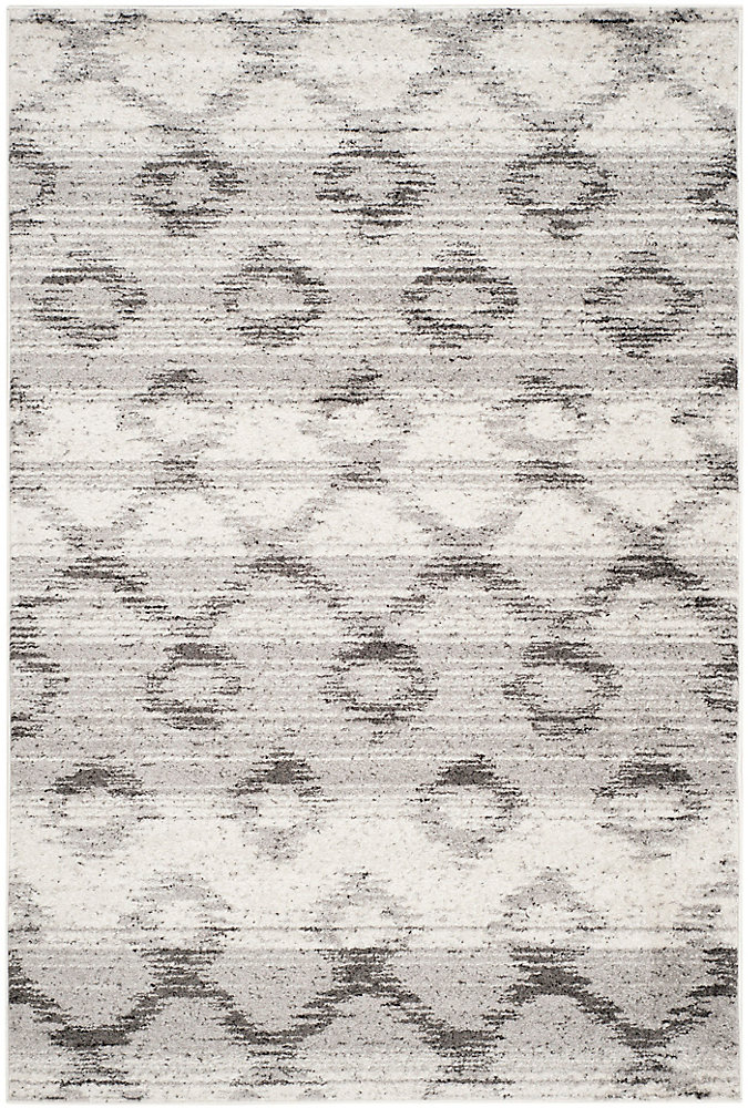 Adirondack Isabel Silver / Charcoal 5 ft. 1 inch x 7 ft. 6 inch Indoor Area Rug
