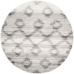 Safavieh Adirondack Isabel Silver / Charcoal 6 ft. x 6 ft. Indoor Round Area Rug