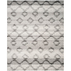 Safavieh Adirondack Isabel Silver / Charcoal 8 ft. x 10 ft. Indoor Area Rug