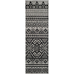 Safavieh Adirondack Karina Silver / Black 2 ft. 6 inch x 12 ft. Indoor Runner