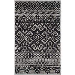 Safavieh Adirondack Karina Silver / Black 2 ft. 6 inch x 4 ft. Indoor Area Rug