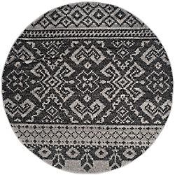 Safavieh Adirondack Karina Silver / Black 4 ft. x 4 ft. Indoor Round Area Rug