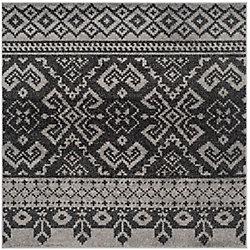 Safavieh Adirondack Karina Silver / Black 6 ft. x 6 ft. Indoor Square Area Rug