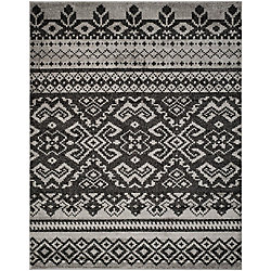 Safavieh Adirondack Karina Silver / Black 8 ft. x 10 ft. Indoor Area Rug