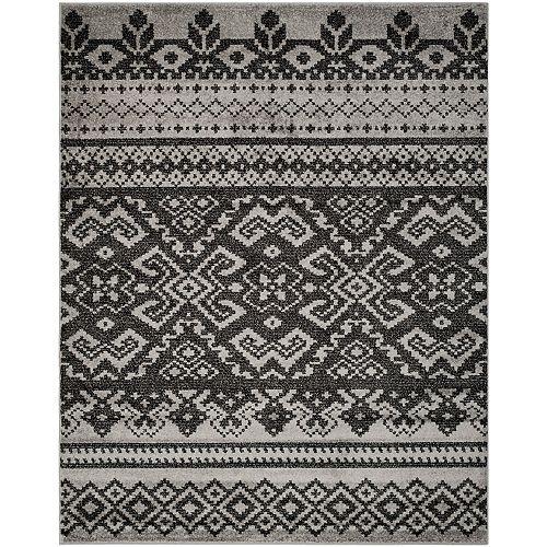 Safavieh Adirondack Karina Silver / Black 8 ft. x 10 ft. Indoor Area Rug