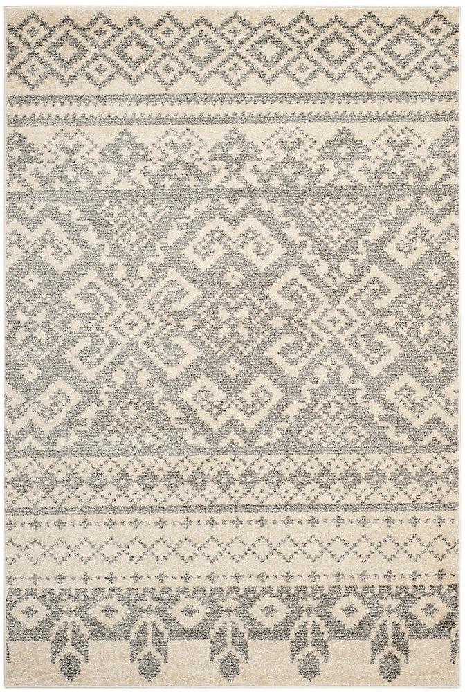 Carpette d'intérieur, 4 pi x 6 pi, style traditionnel, rectangulaire, havane Adirondack