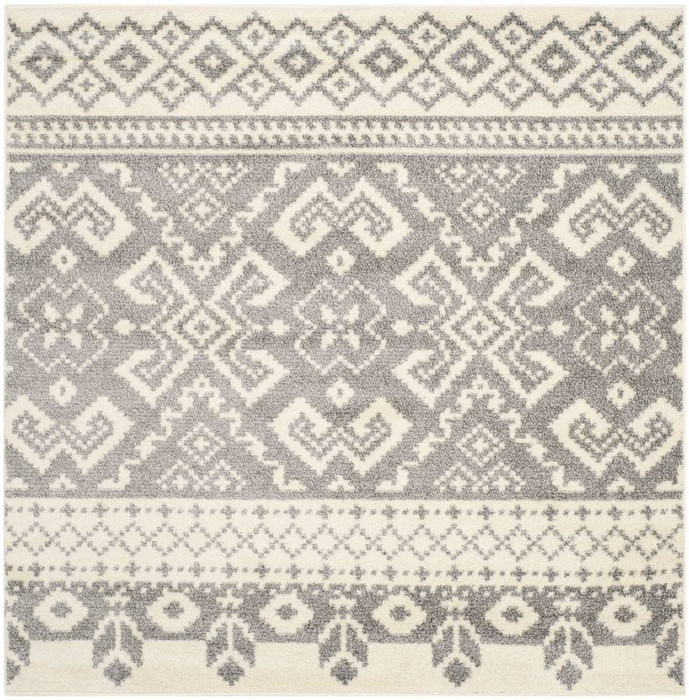 Safavieh Adirondack Karina Ivory / Silver 4 ft. x 4 ft. Indoor Square Area Rug