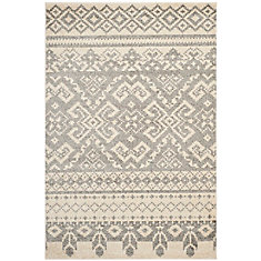 Adirondack Karina Ivory / Silver 5 ft. 1 inch x 7 ft. 6 inch Indoor Area Rug