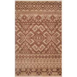 Safavieh Carpette d'intérieur, 2 pi 6 po x 4 pi, style traditionnel, rectangulaire, brun Adirondack