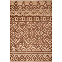Safavieh Adirondack Karina Camel / Chocolate 4 ft. x 6 ft. Indoor Area Rug