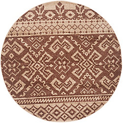 Safavieh Adirondack Karina Camel / Chocolate 4 ft. x 4 ft. Indoor Round Area Rug