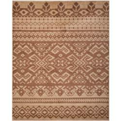 Safavieh Carpette d'intérieur, 9 pi x 10 pi, style traditionnel, rectangulaire, brun Adirondack