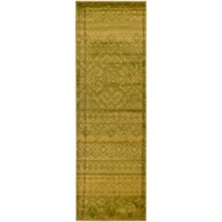 Safavieh Adirondack Karina Green / Dark Green 2 ft. 6 inch x 10 ft. Indoor Runner