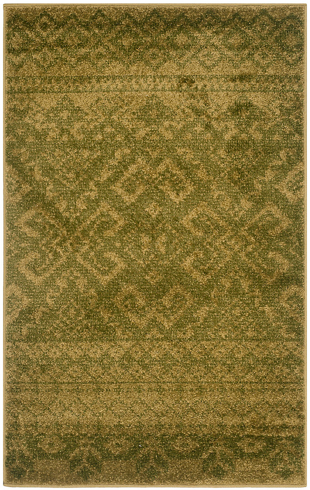 Carpette d'intérieur, 3 pi x 5 pi, style traditionnel, rectangulaire, vert Adirondack